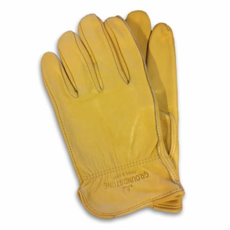 Gula biker handskar.